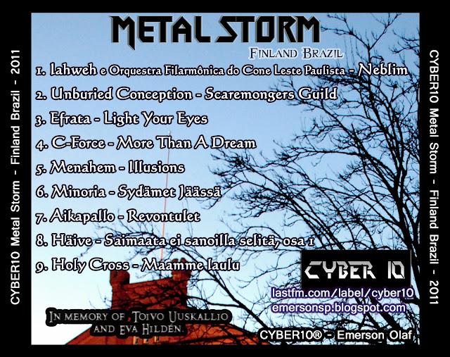 CYBER10 Metal Storm - Finland Brazil Finlandia Brasil Brasilia Suomi Symphonic Melodic Folk Brazilian Conservative Christian Lutheran Melodic