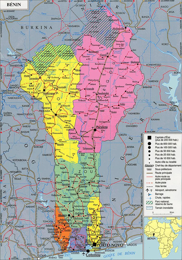 Benin | Mapas Geográficos do Benin