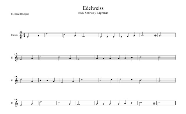 Banda Sonora - Sonrisas y Lágrimas (Richard Rodgers The Sound of Music) partitura