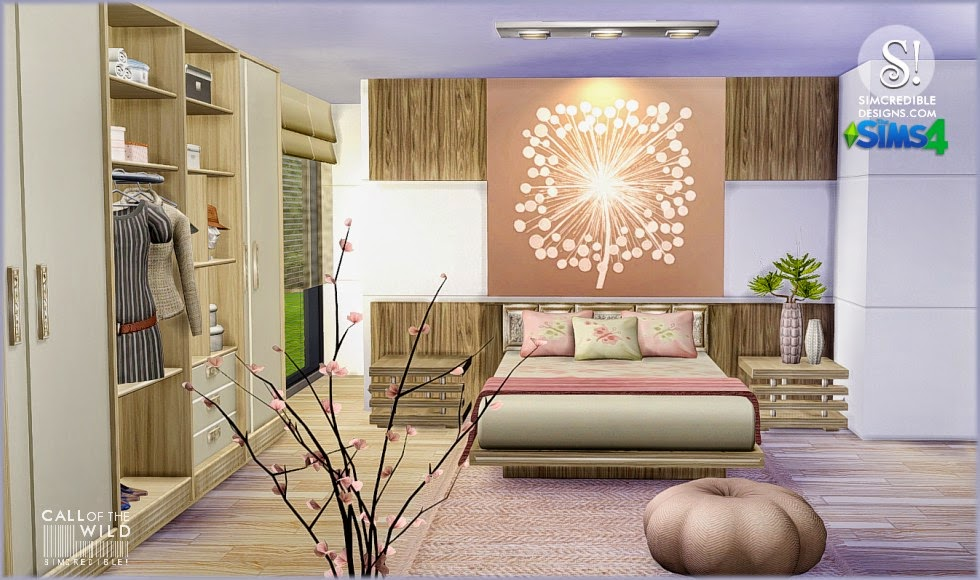 My Sims 4 Blog Call Of The Wild Bedroom Set by