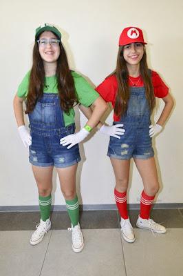 Disfraz Mario Bros luigi mujer