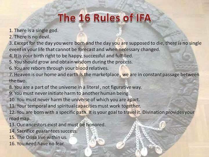 Divination Process: Ifa Verses (Odu Ifa) 16 Principal Odu