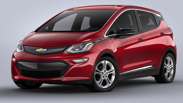 red-chevrolet-bolt-ev-2020-grill-badge-headlight-hood-and-windshield