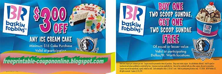 Printable Coupons 2018 Baskin Robbins Coupons