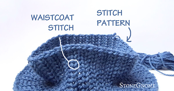 Waistcoat stitch and stitch pattern tutorial