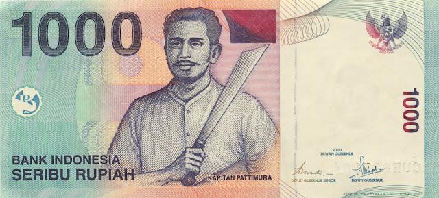 Antara uang Rp. 1.000,- dan Rp. 100.000,-