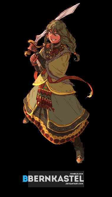 render Sword girl
