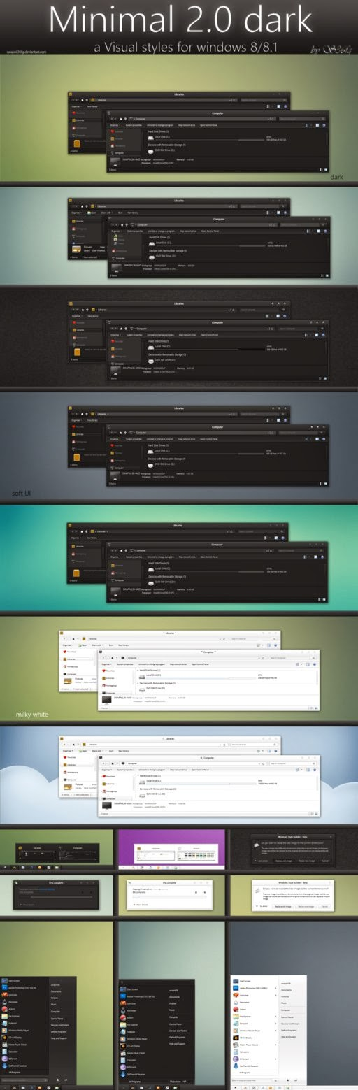 minimal 2.0 dark themes visual style win8