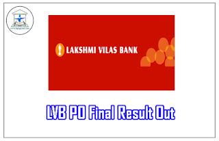 Lakshmi Vilas Bank Probationary Officer 2017 Result Out