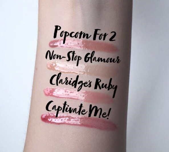 Rimmel London: Stay Glossy Lip Gloss Arm Swatches