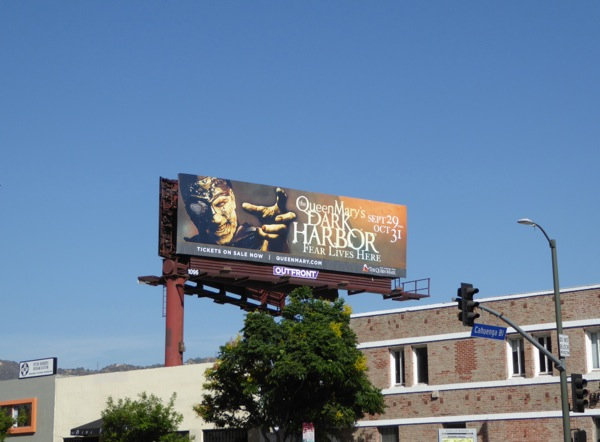 Queen Marys Dark Harbor 2016 billboard