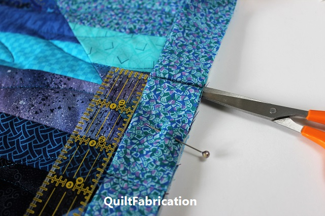 easily joined binding ends on a new strings quilt