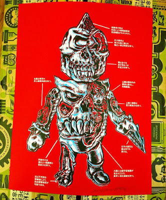 "C2E2 Exclusive ""Bootleg Anatomy"" Screen Print by L'Amour Supreme x Pop Inked"