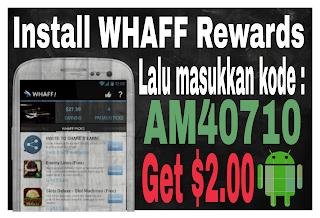Whaff Rewards Aplikasi Penghasil Uang Di Android