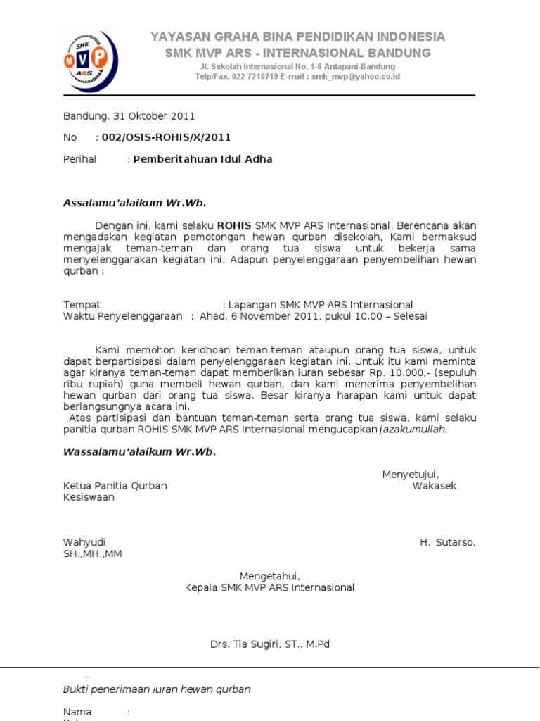 Contoh Surat Pengumuman Libur Lebaran Untuk Karyawan Nusagates