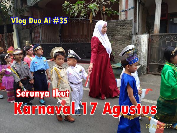 Aiman Ikut Karnaval 17 Agustus di Sekolah