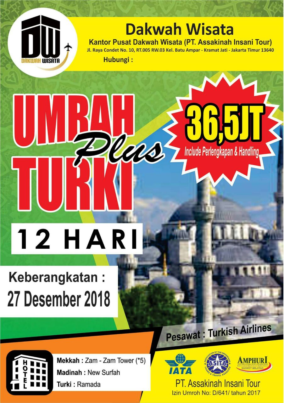 Umroh Plus Turki Desember 2018