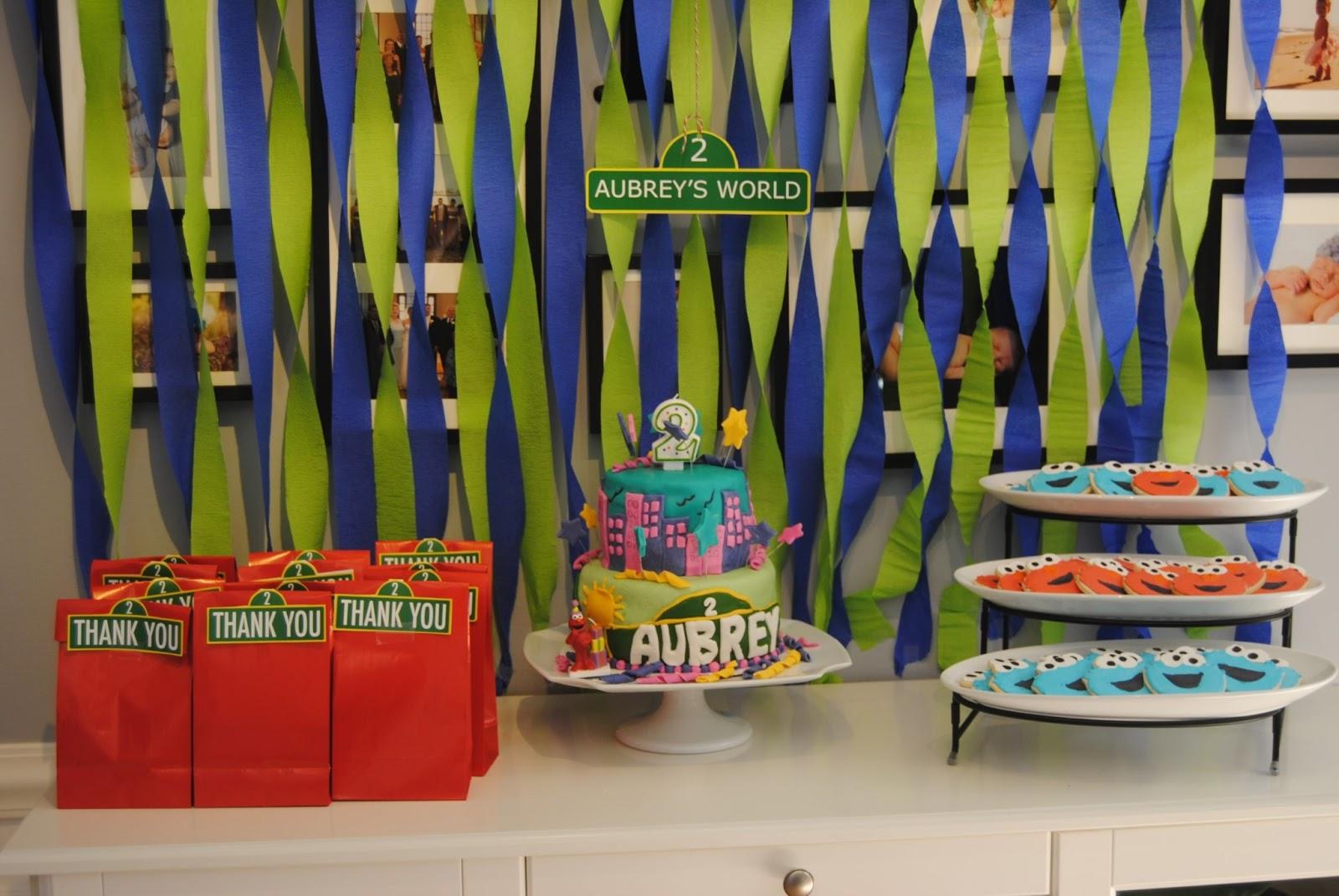 Aubreys Elmo Birthday Party