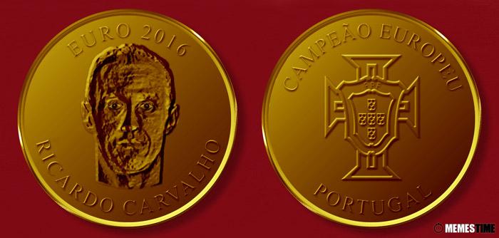 Meme com Medalha Comemorativa da Conquista do Euro 2016 pela Seleção Nacional de Portugal – Ricardo Carvalho