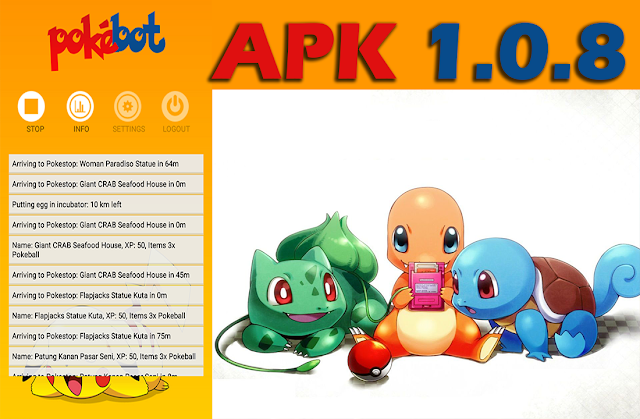 Pokemon Go - Se actualiza Pokebot Apk 1.0.8 (corrección de errores)