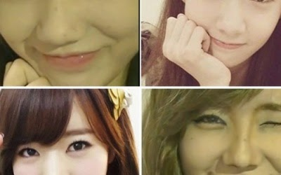And flawless make-up transformed into SNSD glance