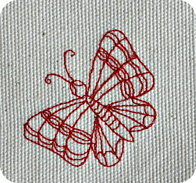 redwork papillon, butterfly, free embroidery design, embroidery pattern broderie gratuite