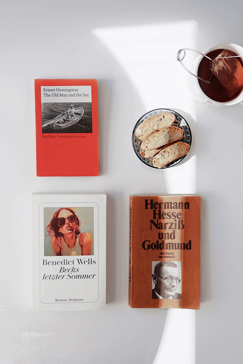 Meine liebsten Bücher für den Sommer: The Old Man and the Sea, Narziß und Goldmund, Becks letzter Sommer   Tasteboykott Blog August Favoriten