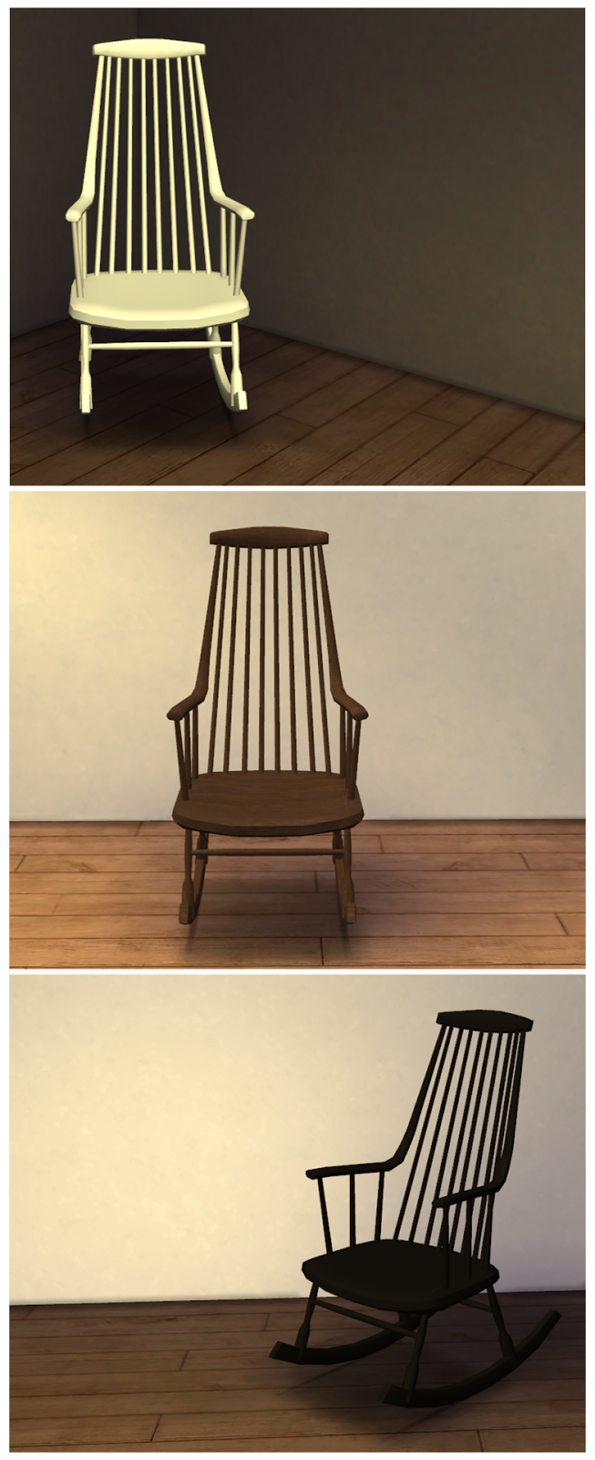 My Sims 4 Blog Ts3 Pocci S Rocking Chair Conversion By
