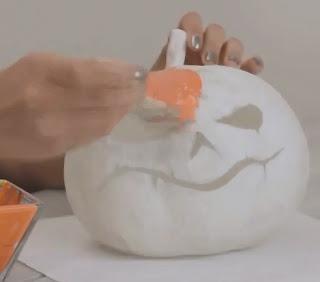 Manualidad de Halloween : Calabaza hecha con papel