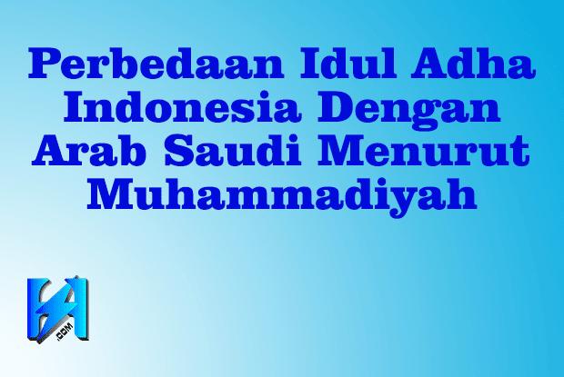 Perbedaan Idul Adha Indonesia Dengan Arab Saudi Menurut Muhammadiyah