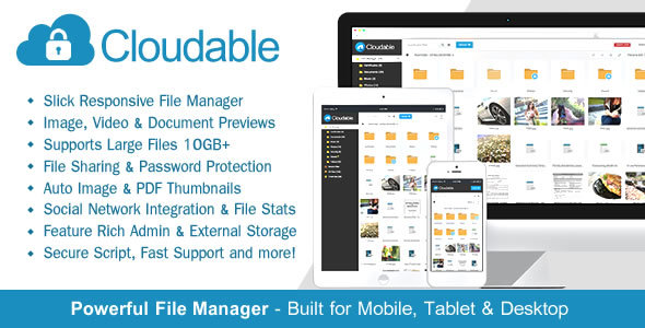 Cloudable File Hosting Script - Securely Manage, Preview & Share Your Files ~ Codecanyon(www.clonenulled.net)