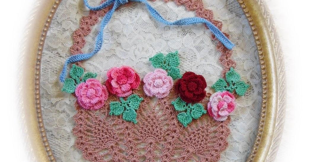 Free Crochet Flower Basket Pattern : BellaCrochet: Flower Basket of Roses; A Free Crochet ...