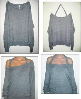 Uzun Kollu Bluzdan Omuzu Açık Tişört Yapımı