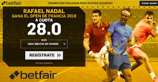 betfair supercuota Nadal gana Open Francia 2018