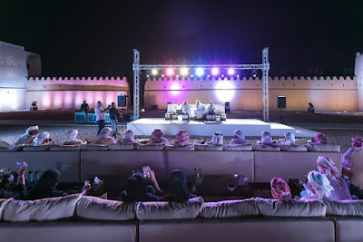 Source: Department of Culture and Tourism – Abu Dhabi. Poetry evening at the Qasr Al Muwaiji.