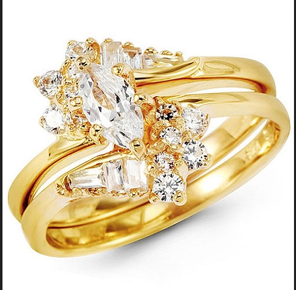 Harga Cincin Emas Putih Tunangan Emas 24 Karat Sepasang