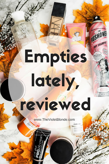 Empties lately, reviewed