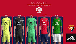 CA Osasuna 2016-2017 Kits Pes 2013 By Migue14