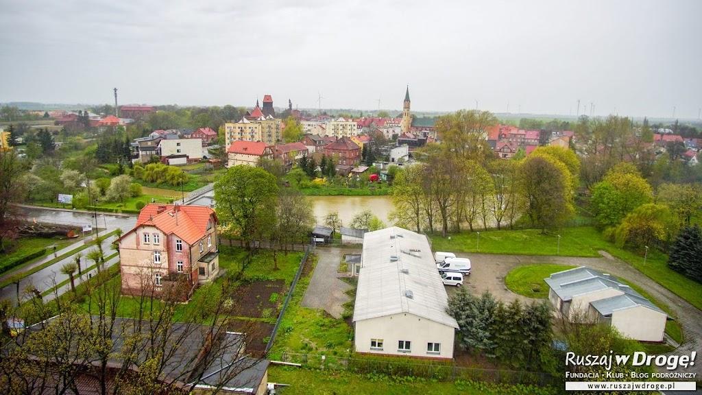 Widok na Nowy Staw z Wieży Ciśnień