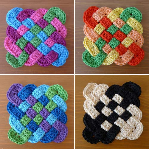 Celtic Coasters - Crochet Pattern