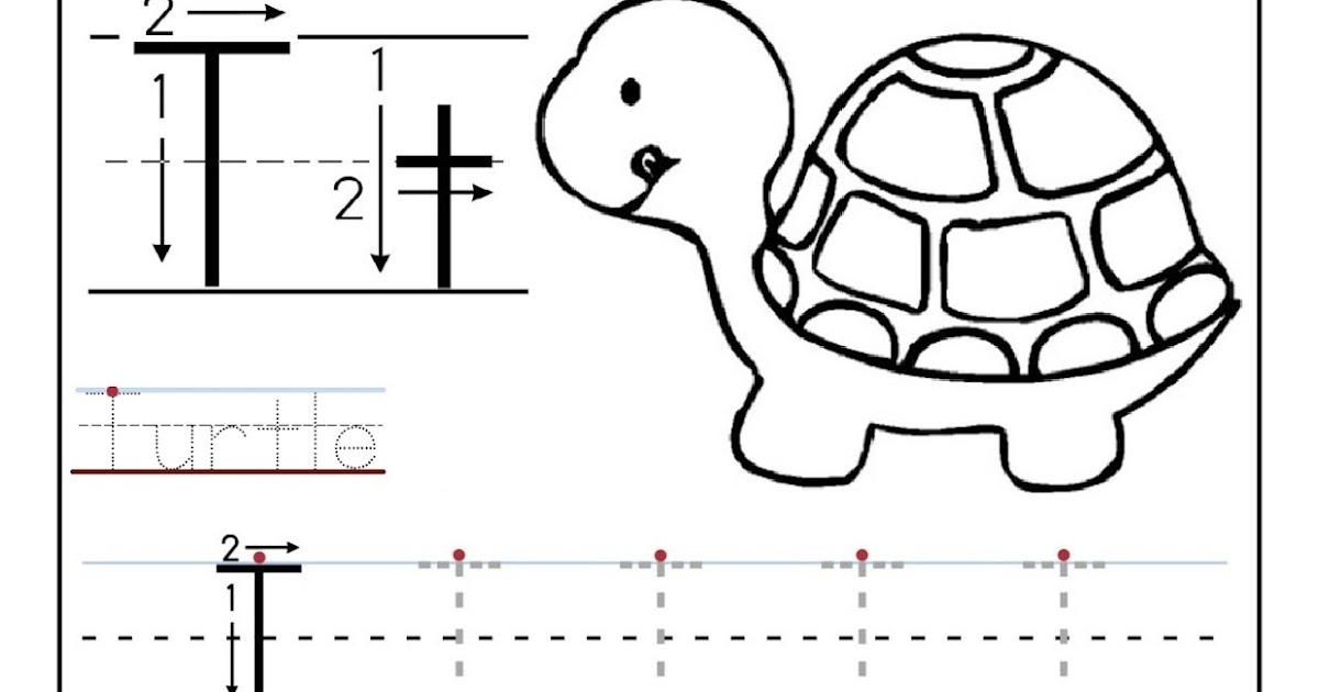 Free printable worksheet letter T for your child to learn