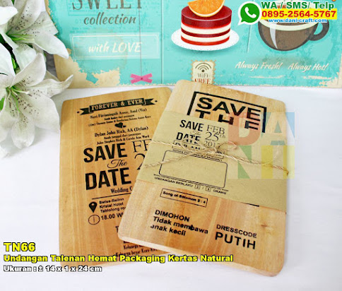 Undangan Talenan Hemat Packaging Kertas Natural
