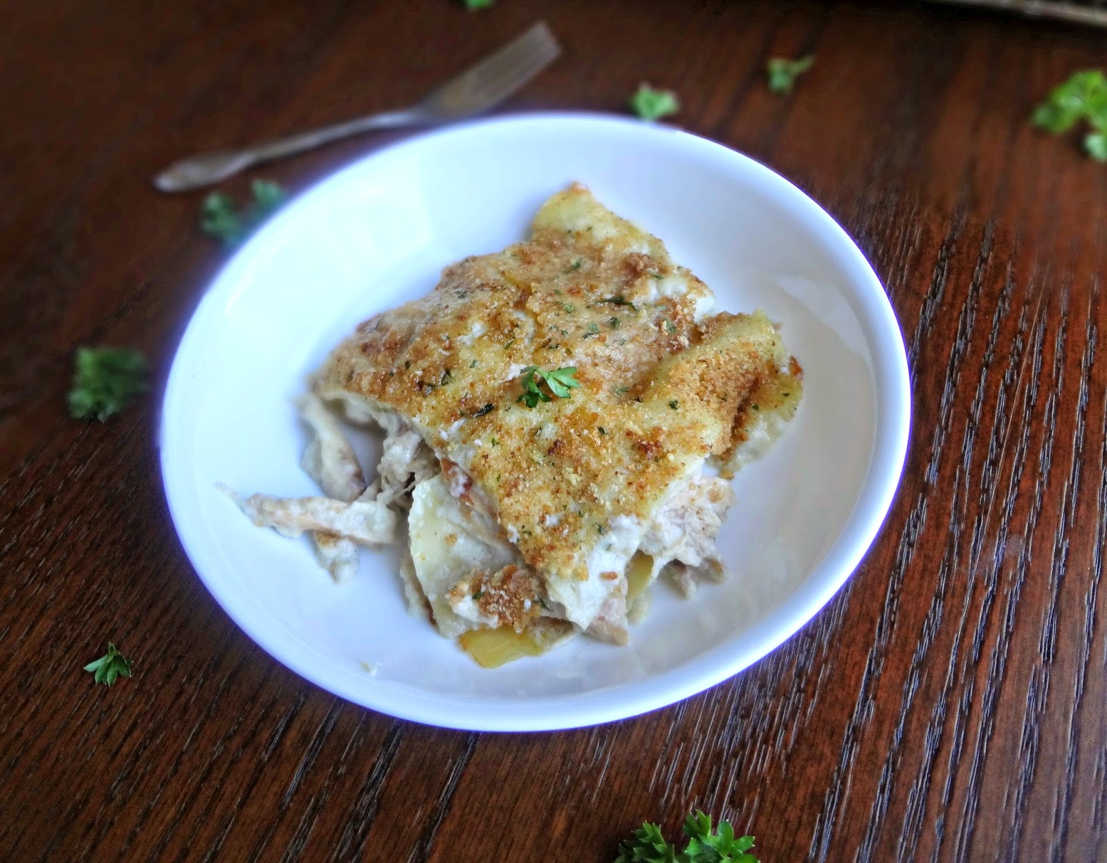 Garlic Parmesan Chicken Lasagna