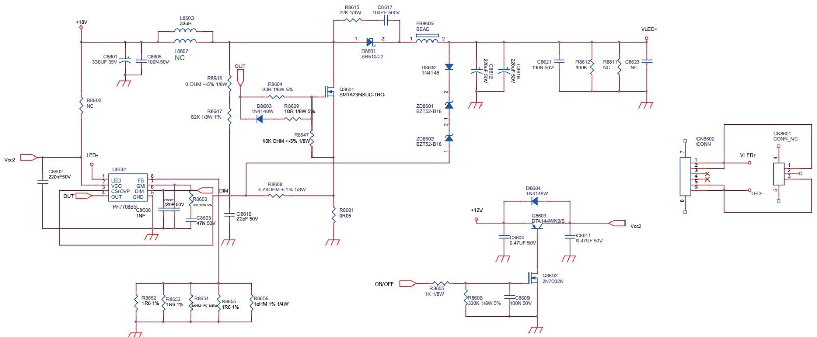 Schematic Diagrams  Philips 40pfg5100