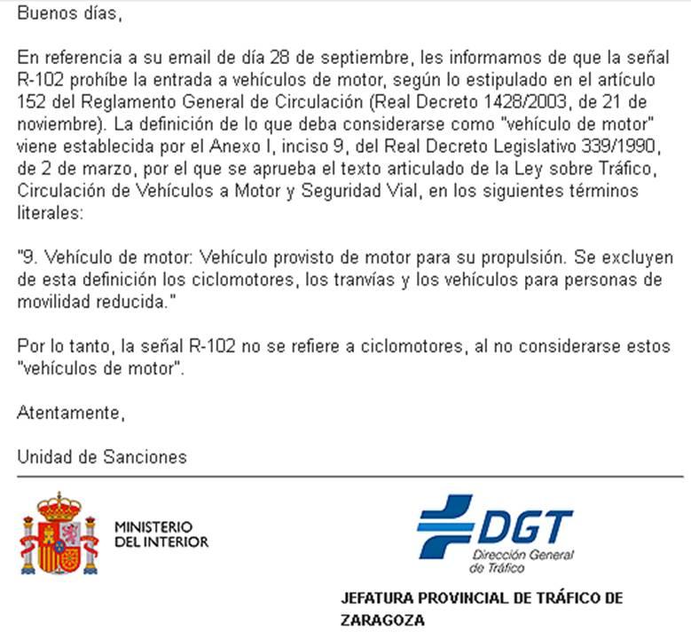 Acera peatonal el ayuntamiento de zaragoza se aliza - Jefatura provincial de trafico de santander ...