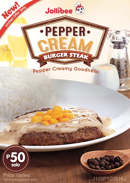 New Jollibee Pepper Cream Burger Steak