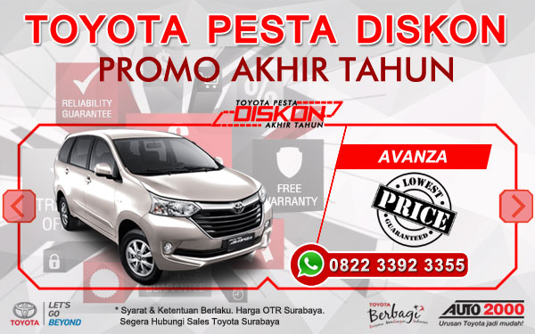 Promo Akhir Tahun Toyota Avanza Surabaya