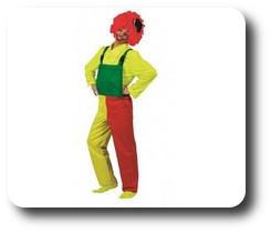 Salopette de Clown Tricolore (Adulte)