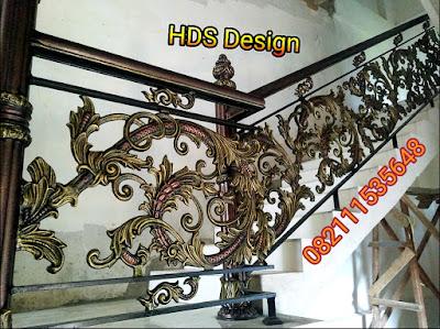 railing tangga tempa mewah