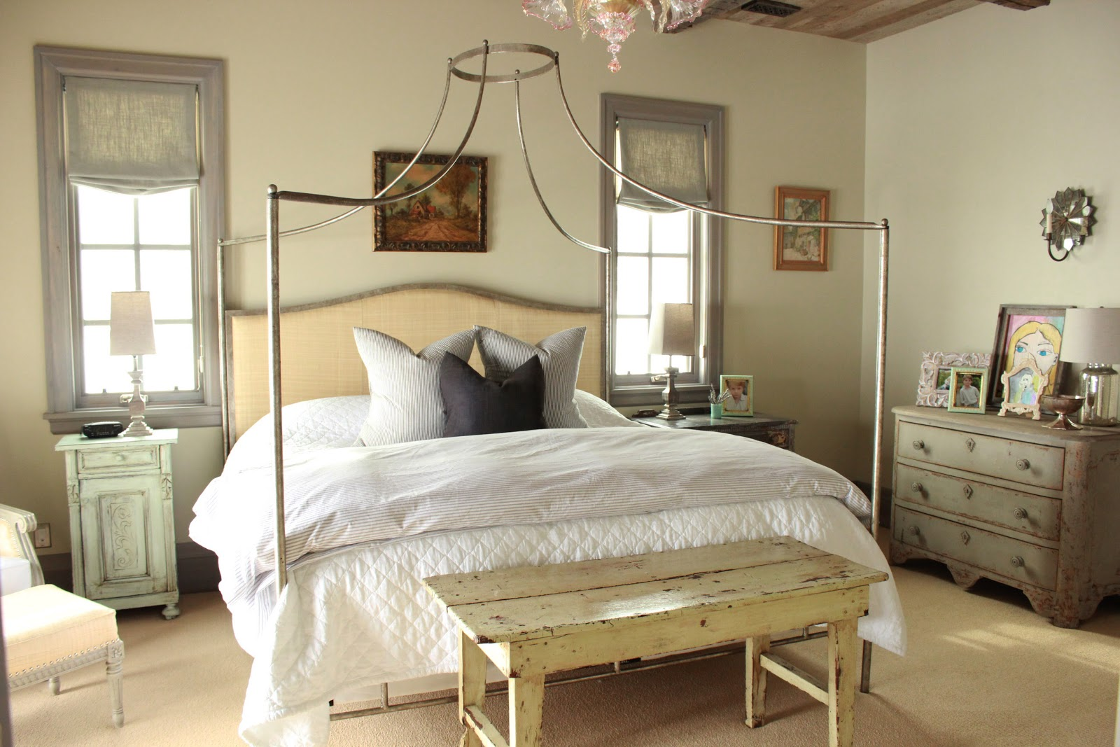 French farmhouse in utah home decor inspiration hello for Rustic french bedroom